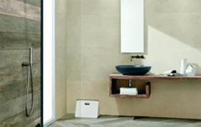 pierre naturelle salle de bain : murs et sols