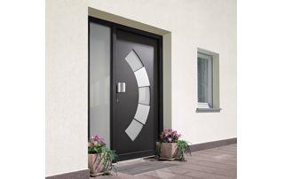 porte extérieure finstral gris foncé