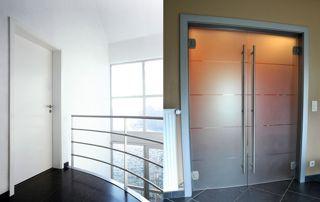 2 modèles de portes : vitrée et en bois