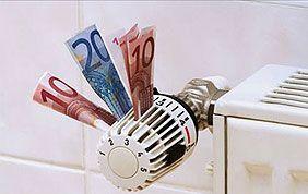 radiateur avec billets pour économie d'énergie