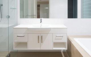 meuble blanc pour salle de bain