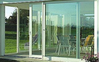 Baie vitrée châssis en PVC