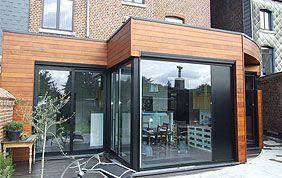 vitrage sur extension de maison en bois