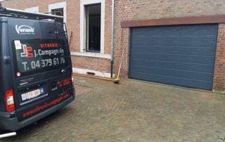installation porte de garage par la Vitrerie Campagnolo