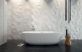 carrelage mural en relief salle de bain