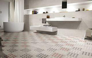 salle de bain sol en mosaïques