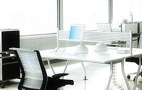 Bureau blanc et moderne