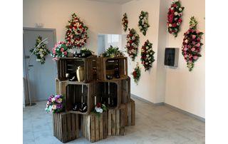 magasin de fleurs mortuaires