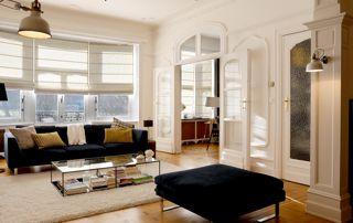 décoration intérieure salon : stores, peinture...
