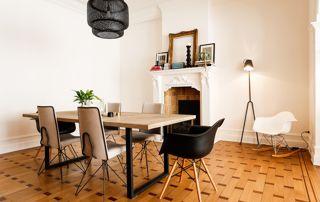 décoration salle à manger avec parquet
