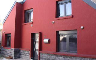 maison à Liège avec menuiseries extérieures en PVC