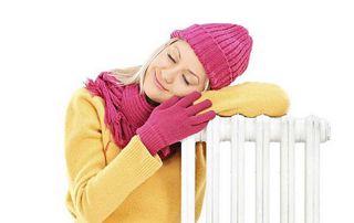 femme avec radiateur