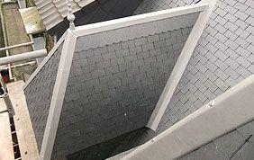 toiture ardoise avec faîte
