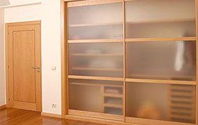 placard bois portes coulissantes