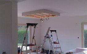 Installation d'un faux plafond
