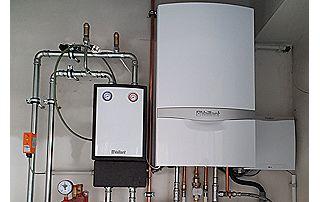 installation complète de chauffage au gaz