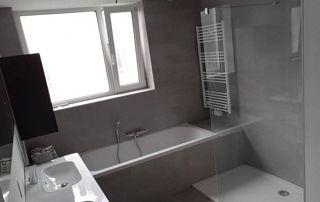 installation complète de salle de bain