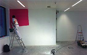 peintre en action