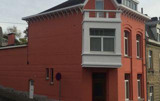 peinture rouge façade
