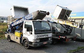 camion grue avec élévateur