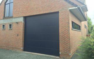 porte de garage basculante pvc bleu foncé
