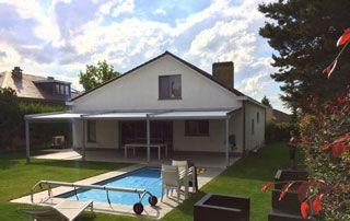 tente solaire terrasse piscine