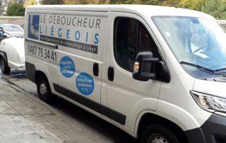 camionnette Le Déboucheur Liégeois