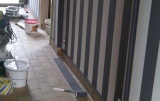 travaux tapissage couloir