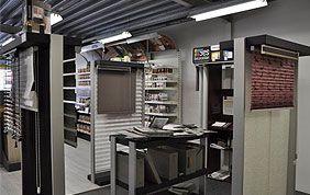 magasin de stores avec modèles et catalogues