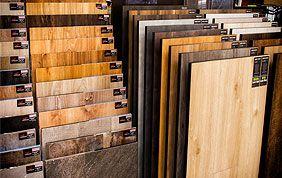 échantillons de revêtements de sols en bois