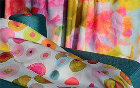 tissu pour rideau à motifs