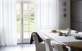 Voilage blanc salle à manger