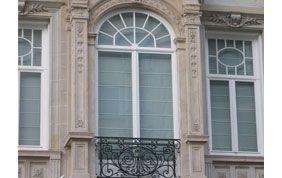fenêtres arrondies en PVC