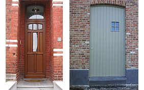 modèles de portes d'entrée en bois