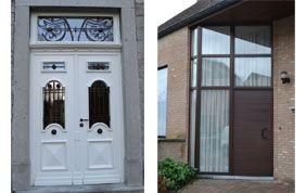 porte d'entrée traditionnelle ou design
