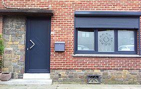 menuiseries extérieures : porte, fenêtre et volets en alu
