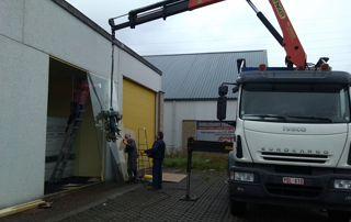 camion pour transport de verre