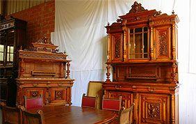 meubles d'antiquité en bois couleur acajou