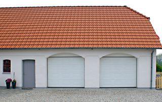 double porte sectionnelle PVC