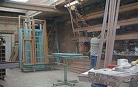 atelier fabrication châssis en bois