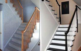rénovation escalier avant après