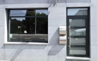 châssis en alu : porte et fenêtre