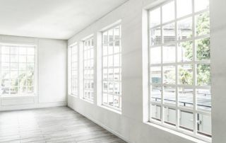 fenêtre en PVC vue de l'intérieur