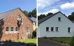 peinture extérieure maison avant après