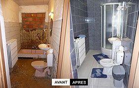Avant-après rénovation d'une salle de bain