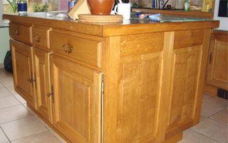 ïlot central cuisine en bois