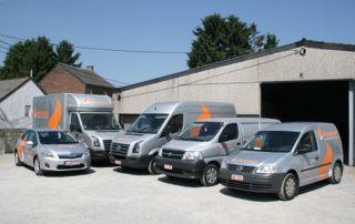 camionnettes des chauffagistes Dumotec