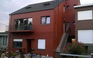 peinture façade rouge