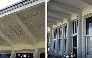Peinture façade et plafond avant après travaux