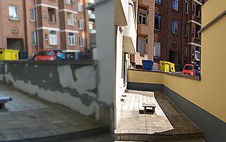 Avant/après rénovation de façade